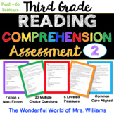 3rd Grade Leveled Reading Comprehension Assessment #2- Cold Read / Close Read