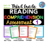 Distance Learning 3rd Grade Reading Comprehension #1- Cold