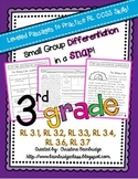 3rd Grade Leveled Reading Passages CCSS {RL.1, RL.2, RL.3,