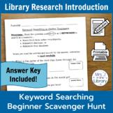 3rd Grade Library Database Scavenger Hunt & Lesson Plan {P