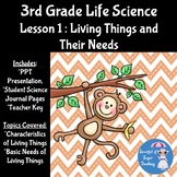 3rd Grade Life Science Lesson 1: Living Things and Their Needs
