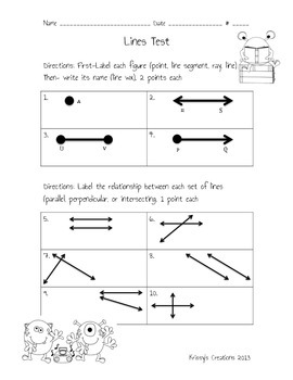 3rd Grade Lines Test