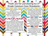 3rd Grade Literacy CCSS & Planning Pages