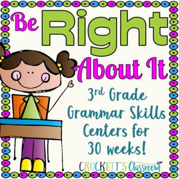 3rd Grade Literacy Centers; Grammar Skills, Full year (30 weeks)