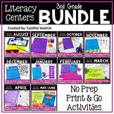 3rd Grade Literacy Centers No Prep All Year Bundle