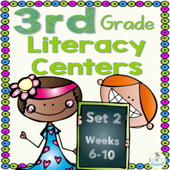 3rd Grade Literacy Centers Set 2 (rdg. skills/strategies, grammar and writing)