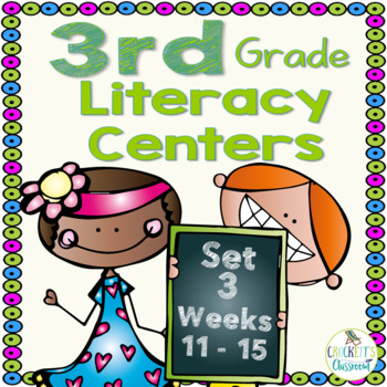 3rd Grade Literacy Centers Set 3 (rdg. skills/strategies, grammar and writing)