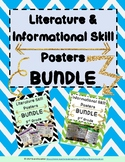 3rd Grade Literature AND Informational Skill Poster BUNDLE