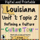 3rd Grade Louisiana Cultures Unit 1: Topic 2 Louisiana Culture Walking Tour