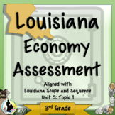 3rd Grade Louisiana Economy Assessment Unit 5: Topic 1
