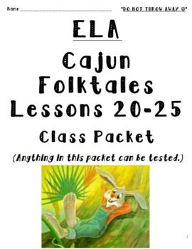 3rd Grade Louisiana Guidebooks Cajun Folktales Lessons 20-25 Student Packet