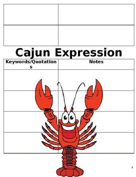 """3rd Grade Louisiana Guidebooks Cajun Folktales """"Louisiana Learning Log"""""""