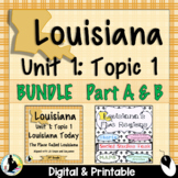 3rd Grade Louisiana History, Unit 1, Topic 1 BUNDLE