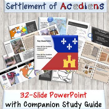 3rd Grade Louisiana History Unit 3 Topic 3 Settlement of Acadians