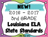 3rd Grade Louisiana NEW! ELA State Standards I Can Statements