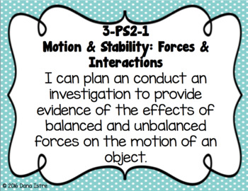 3rd Grade Louisiana Science Standards I Can Statements