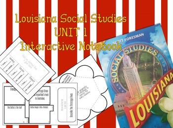 3rd Grade Louisiana Social Studies Interactive Notebook Unit 1
