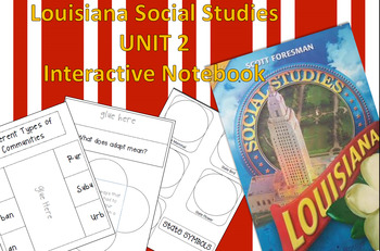 3rd Grade Louisiana Social Studies Interactive Notebook Unit 2