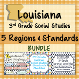 3rd Grade Louisiana Social Studies Standards and Five Region Task
