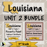 3rd Grade Louisiana Unit 2 Bundle: Poverty Point & Native Americans