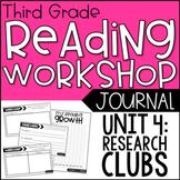 3rd Grade Lucy Calkins Reading Workshop Journals, Unit 4