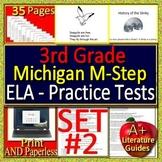 3rd Grade M-Step Test Prep ELA Practice Tests #2 for Michigan