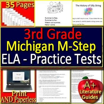 3rd Grade M-Step Test Prep ELA Practice Tests for Michigan