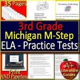 3rd Grade M-Step Test Prep ELA Practice Tests for Michigan MStep