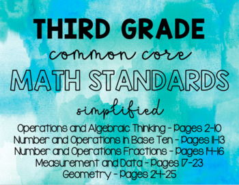 3rd Grade Math Florida Standards - Typed (MAFS)