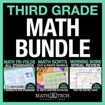 3rd Grade MATH BUNDLE - Guided Math or Math Workshop