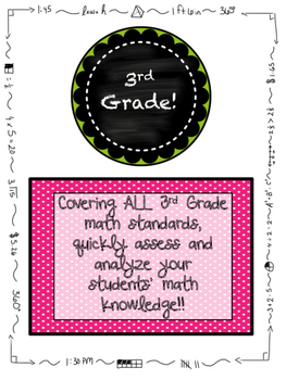 3rd Grade MATH Beginning of the Year Pre-Assessment ALL STANDARDS