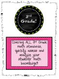 3rd Grade MATH Beginning of the Year Pre-Assessment ALL STANDARDS