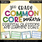 3rd Grade MATH EDITABLE Essential Questions & Learning Goals