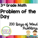 3rd Grade MATH Problem Of The Day- 200 Days of Word Problems