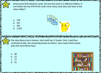 3rd Grade MATH STAAR TASK CARDS