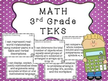 3rd Grade MATH TEKS