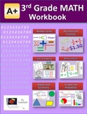"""A+ Math"" 3rd Grade Math Workbook (Worksheets, Exams and Answer Keys)"