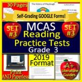 3rd Grade MCAS Reading ELA Test Practice #3 Massachusetts 2019 Format Google