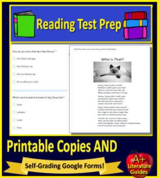 3rd Grade MCAS Reading ELA Test Prep Practice Tests Bundle for Massachusetts