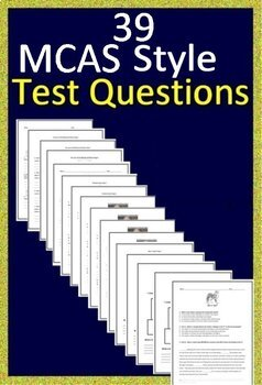3rd Grade MCAS Reading ELA Test Prep Practice Massachusetts 2019 Format Google