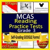 3rd Grade MCAS Reading ELA Test Prep Print & SELF-GRADING GOOGLE! Massachusetts