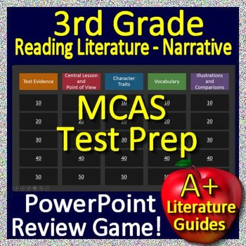 3rd Grade MCAS Test Prep Reading Literature and Narrative Skills Review Game
