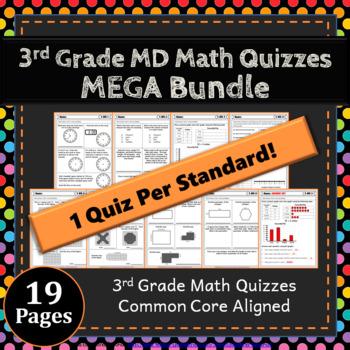 3rd Grade MD Quizzes: 3rd Grade Math Quizzes, Measurement & Data Quizzes