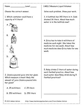 3rd grade measurement and data common core worksheets by amber kotzin. Black Bedroom Furniture Sets. Home Design Ideas