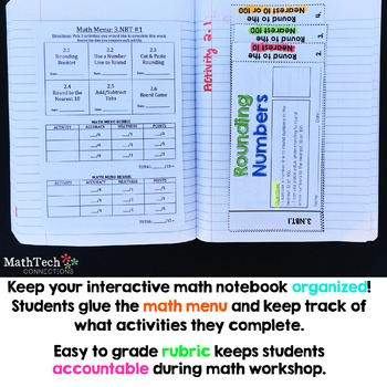 3rd Grade NBT Place Value, Addition & Subtraction Interactive Notebook
