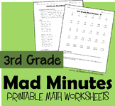 3rd Grade Mad Minutes (Math Worksheets)