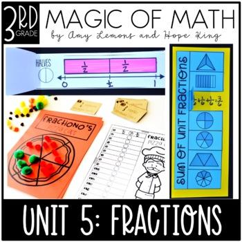 3rd Grade Magic of Math Unit 5:  Fractions