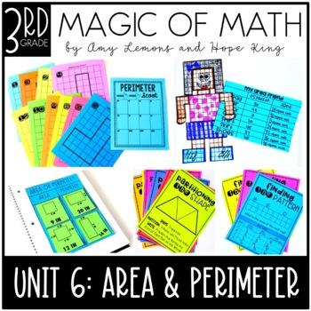 3rd Grade Magic of Math Unit 6:  Geometry, Area, and Perimeter