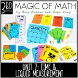 3rd Grade Magic of Math Unit 7:  Time, Capacity, and Mass