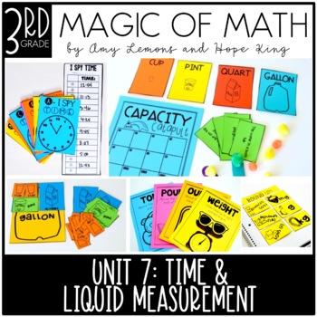 3rd Grade Magic of Math Unit 7:  Time, Capacity, and Mass